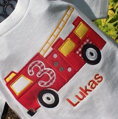 Personalized Firetruck Vinyl Passport Holder
