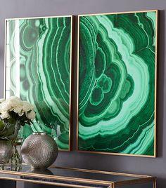 Art Pairings - Beautiful trendy emerald artwork
