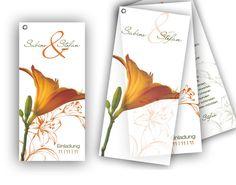 Hochzeitskarte - Orange Lilie für einen unvergesslichen Tag