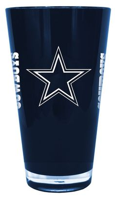 Dallas Cowboys 20 oz Insulated Plastic Pint Glass