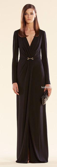 Gucci Long Black Dress w/Horsebit Belt