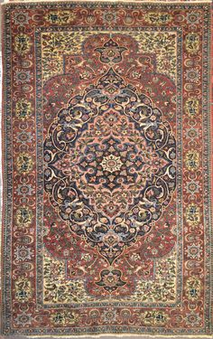 Antique Isfahan Mobarakeh Wool Persian Rug - Item# BG-3115  -Category: Small(3x5-5x8) Persian Rugs Design:  Size: 125 x 190 (cm)      4' 1 x 6' 2 (ft) Origin: Persian, Isfahan Foundation: Wool Material: Wool Weave: 100% Hand Woven Age: Old KPSI: 500