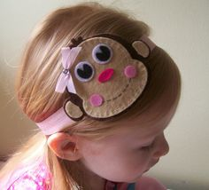 Items similar to Pink Brown Monkey Boutique Felt Baby Toddler Girls Headband on Etsy Felt Bows, Ribbon Bows, Felt Diy, Felt Crafts, Baby Bows, Baby Headbands, Christmas Hair Bows, Ribbon Sculpture, Felt Applique
