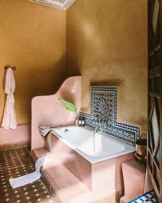 Riad Jardin Secret Marrakech Superior room with bathtub Morrocan Bathroom, Morrocan Decor, Modern Bathroom, Moroccan Bedroom, Moroccan Lanterns, Morrocan House, Modern Moroccan Decor, Slate Bathroom, Bohemian Bathroom