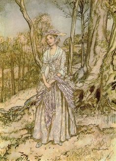 That little melancholy air - The Vicar of Wakefield by Oliver Goldsmith, 1929 - Arthur Rackham