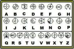 Halo Forerunner alphabet.