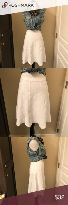 Michael Kors Skirt MICHAEL by Michael Kors white skirt. Stretchy material, great condition. Wear it high waisted for a high fashion look :) Michael Kors Skirts Mini