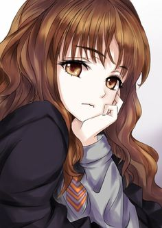 Hermione Granger /Manga - Welcome! Manga Cute, Anime Girl Cute, Kawaii Anime Girl, Anime Art Girl, Manga Girl Sad, Cute Anime Girl Wallpaper, Manga Anime, Anime Kiss, Anime Naruto