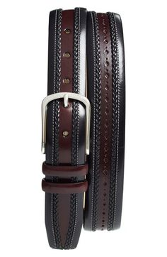 Mezlan 'Diver' Leather Belt