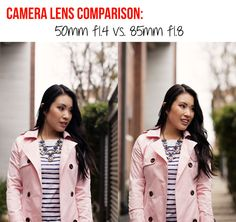 Camera Lens Comparison: 50mm f1.4 vs. 85mm f1.8
