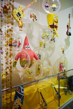 A collection of fun gadgets and gizmos at Russia's first-ever interactive SpongeBob exhibit in 2011.