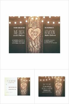 Heart Tree and String Lights Rustic Collection