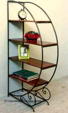 Idea for a freestanding shelf Iron Furniture, Iron Patio Furniture, Decor, Home Decor Furniture, Rustic Furniture, Iron Decor, Metal Furniture, Wrought Iron Design, House Plants Decor