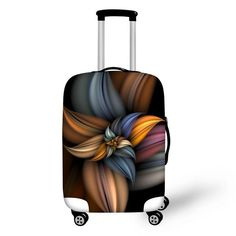 3D White Dandelion Print Luggage Protector Travel Luggage Cover Trolley Case Protective Cover Fits 18-32 Inch