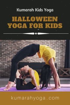 Practice yoga and celebrate Halloween with your kids or students. Try these Ten Creative Halloween Kids Yoga Poses. Pose images and descriptions, plus a lesson plan. Book ideas for more yoga poses, too! I Love Yoga Yoga Poses For Men, Yoga For Men, Pranayama, Yoga Flow, Yoga Meditation, Yoga Fitness, Workout Fitness, Health Fitness, Childrens Yoga