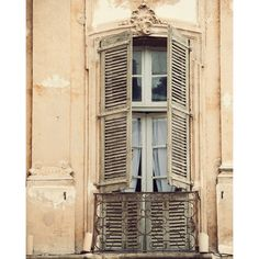 Provence Art, Old Window Photograph, French Country Decor, Fine Art... ($31) ❤ liked on Polyvore featuring home, home decor, wall art, heart wall art, photographic wall art, pastel home decor, window wall art and photography wall art
