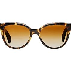Oliver Peoples Women's Abrie Sunglasses (495 CAD) ❤ liked on Polyvore featuring accessories, eyewear, sunglasses, glasses, occhiali, colorless, oversized sunglasses, oversized cat eye sunglasses, cat eye glasses and tortoise sunglasses