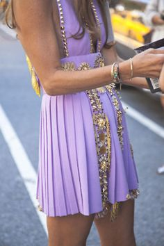 lavender and gold
