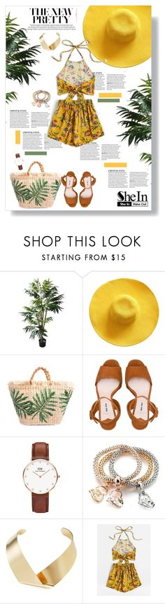 """""""PRETTY girl"""" by ginny-col ❤ liked on Polyvore featuring Miu Miu, Daniel Wellington and Kenneth Jay Lane"""