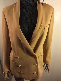 Vintage Escada By Margaretha Ley Blazer Jacket Brown. Size 38. #ESCADA #Blazer