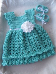 Baby Girl 3-Piece Set Dress Headband & Shoes by StonehouseGals