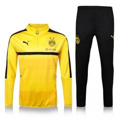 Reus Borussia Dortmund 16/17 Yellow Training SUIT [Jacket and Pants] soccer jacket