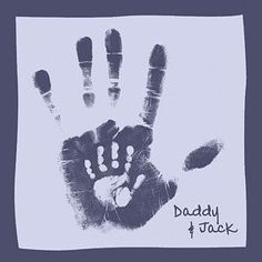 daddy and child handprints