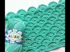 ♥ Объемный Узор крючком Черепица • Описание и Схема вязания • 3D Ruffles crochet stitch - YouTube