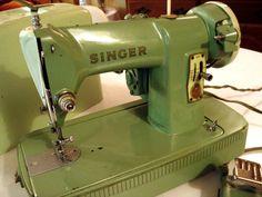 Vintage Mint Green Singer 185k Sewing Machine by SecondhandSandies, $125.00
