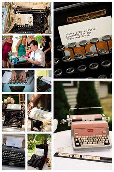Typewriter wedding