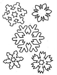 flocos de neve...