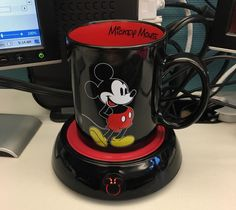 A mug *AND* mug warmer because Mickey and Minnie warm your heart, so let them help warm up your coffee, too.