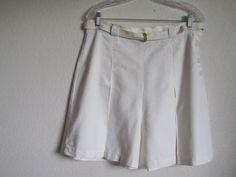 1940's Jantzen Pinup Shorts in White with Bakelite Belt BuckleFrom 4birdsvintage