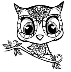 Kids Coloring In Pages - Owls - Great for # parties # play dates # travelling