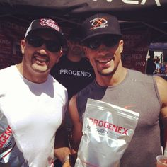 Jason Khalipa & Maddox Neal. Jason setting a world record yesterday & Maddox setting one in the first workout today. Thanks for the support guys!!! - @progenexusa- #thesauce, #progenex, #crossfitprogenex, #khalipa, #maddox, #worldrecords, #cameron, #paulgomez