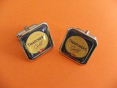 Funky THATCHERS GOLD CUFFLINKS £10.00