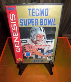 Vintage Video Game - Sega Genisis Video Game -Tecmo Superbowl, Classic NFL Football, Classic, Retro, Original game cartridge. by FriendsRetro on Etsy
