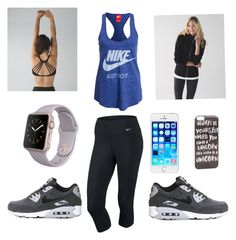 Kbaffo would wear this by gottalottaprada on Polyvore featuring polyvore, fashion, style, lululemon, NIKE, JFR and clothing