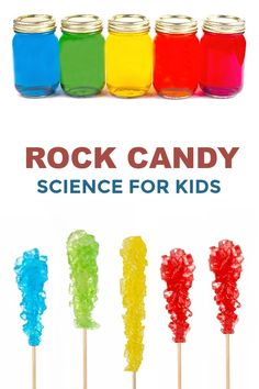 Rock Candy Experiment Making rock candy is really easy and lots of fun for kids. This activity is a beautiful science experiment and a yummy treat all in one. My kids kinder Science Projects For Kids, Summer Activities For Kids, Science For Kids, Diy For Kids, Crafts For Kids, Rock Science, Summer Science, Elementary Science, Craft Projects