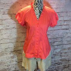 ANNE KLEIN CORAL BLOUSE Beautiful coral blouse by Anne Klein. Gently used. Anne Klein Tops Blouses