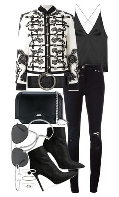 """""""Untitled #20778"""" by florencia95 ❤ liked on Polyvore featuring Dion Lee, Closed, Dolce&Gabbana, Givenchy, Baldwin, Yves Saint Laurent, Michael Kors, Monica Vinader and Accessorize"""