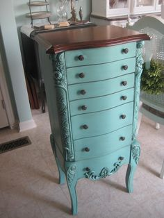 A Comfy Little Place of My Own: Turquoise Jewelry Armoire