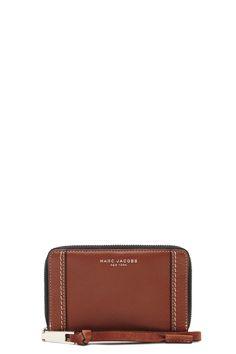 Maverick Leather Zip Phone Wristlet