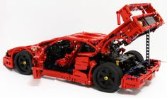Jorge Pesi is one of the best Technic model builders around and his Ferrari does not disappoint. From working suspension at each corner, functional steering and opening doors, trunk and bonnet this build has all the features you'd expect from this pro Ferrari F40, Ferrari 2017, Legos, Technique Lego, Lego Structures, Best Lego Sets, Lego Mecha, Cool Lego Creations, Lego Projects