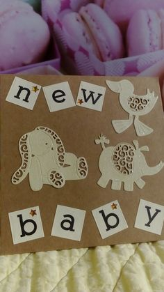 Tattered lace dies cut in lemon glitter card. New Baby Cards, Glitter Cards, Raise Funds, Diy Cards, Gift Bags, Bag Making, Charity, New Baby Products, Elephant