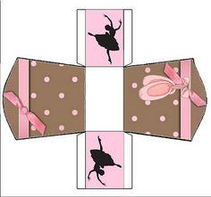 Cajitas para imprimir gratis de Ballet.
