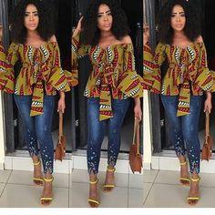 Latest Ankara Tops for ladies version) - Esther Adeniyi African Print Dresses, African Fashion Dresses, African Attire, African Wear, African Women, African Dress, Ankara Fashion, African Style, Fashion Hub