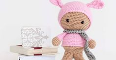 A directory of free Amigurumi crochet patterns Amigurumi Free, Amigurumi Patterns, Amigurumi Doll, Crochet Patterns, Crochet Bunny, Crochet Toys, Hats For Big Heads, Baby Dolls, Free Pattern
