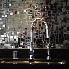 Mirrored tiles... - Backsplash Ideas - Bob Vila by valerie