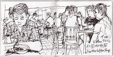 urban sketchers black and white - Google Search